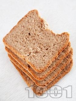 Здравословен домашен хляб с трици за хлебопекарна богат на фибри - снимка на рецептата